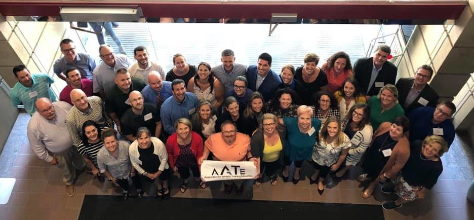 Group photo of founding members at the athletic training education colloquium.